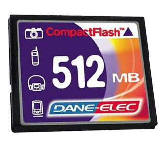 DANE-ELEC Compact Flashcard 512 Mb Professional