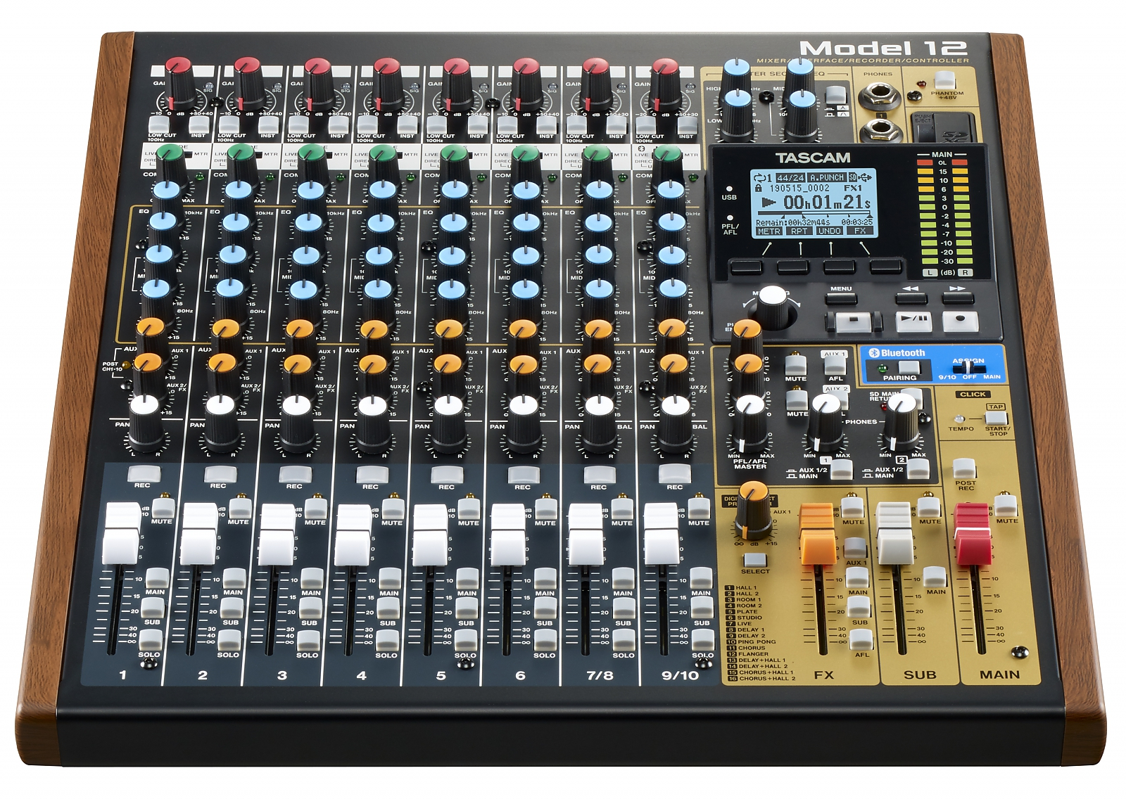 Tascam Model 12 Mixer / Interface /  Recorder / Controller