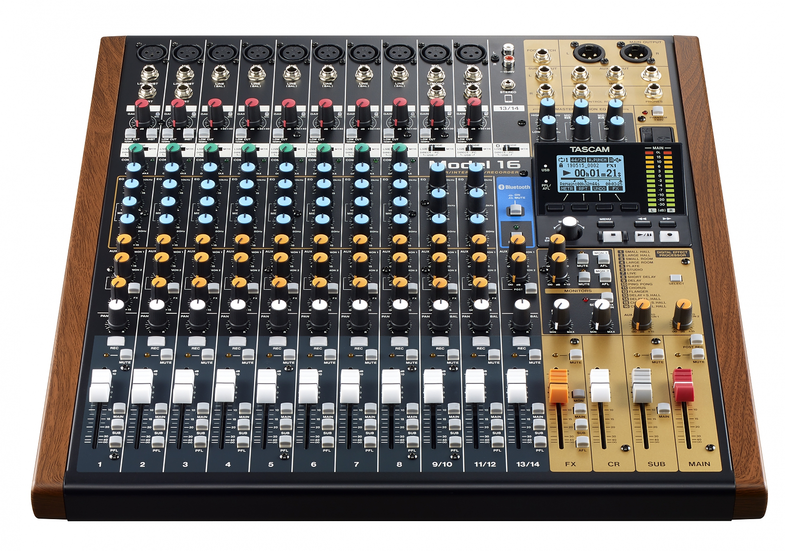 Tascam MODEL 16 14-Ch Analog Mixer m/16-Track Digital Recorder