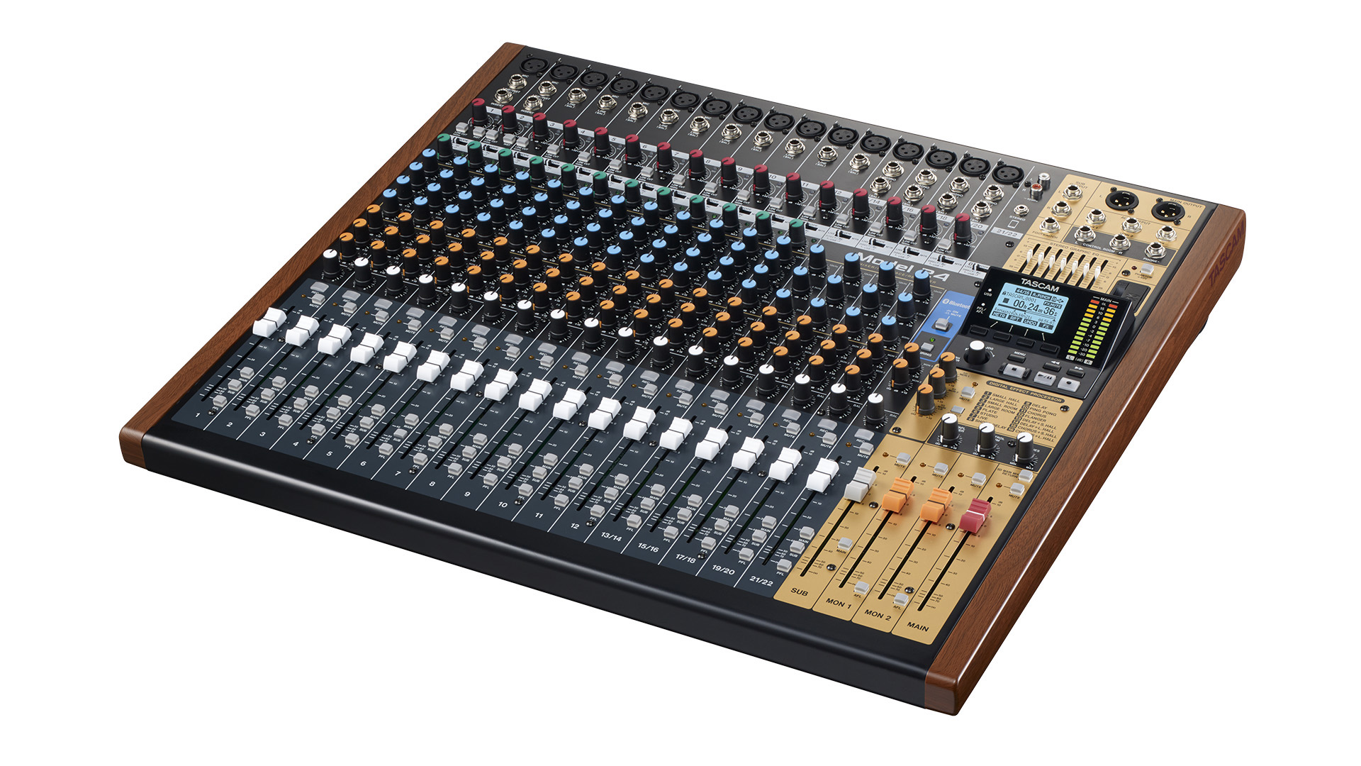 Tascam MODEL24  22-Ch Analog Mixer m/24-Track Digital Recorder
